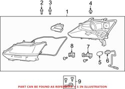 Genuine Oem Front Right Headlight Assembly For Lexus 8111030g70