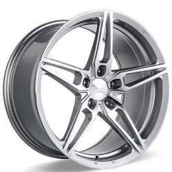 4ea 20 Staggered Ace Alloy Wheels Aff01 Silver With Machined Face Rimss42