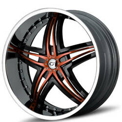 4ea 20 Gianna Wheels Blitz Chrome With Custom Color Inserts Rimss42