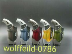 Jet Flame Gas Lighter With Torch Light Windproof Uk Seller Multi Colour Option