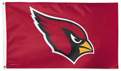 Arizona Cardinals Huge 3'x5' Official Licensed Nfl Football Deluxe Wincraft Flag