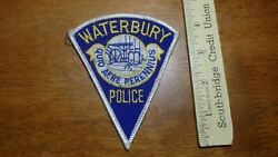 Waterbury Connecticut Police Department Obsolete Patch Bx C 16