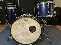 Beautiful Players Quality Vintage 60's Slingerland Drum Kit, 3 Piece, New Heads