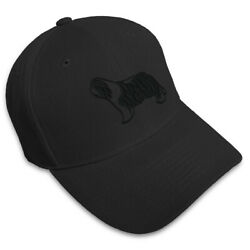 Dad Hats for Men Bearded Collie Dog Silhouette Embroidery Women Baseball Caps