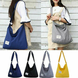 Womens Solid Color Easy to Fold Bags Tote Messenger Travel Canvas Crossbody Bags $10.68