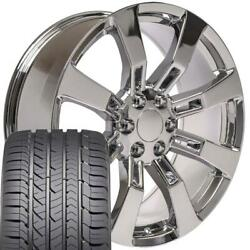 5409 Chrome 22x9 Wheel And Goodyear Tire Set Fits Chevy Gmc Cadillac