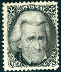 1875 United States 2andcent Postage Stamp 103 Used Reissue Light Cancel Bright Color