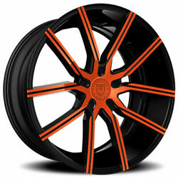 4ea 20 Staggered Lexani Wheels Gravity Custom Color Rims S41