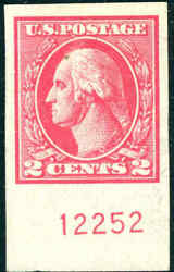1918 2andcent Carmine 534b Type Vii Offset Printing Imperf Reg Xf Grade 90 Cat 3750