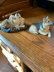 Beautiful 1 Living Stone And 1 Martha Carey Whiskers Figurines With Free Shipping
