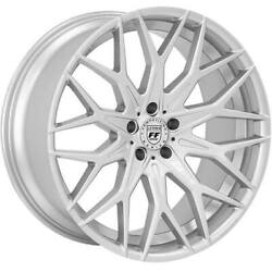4ea 20 Staggered Lexani Wheels Morocco Bright Silver Flow Forged Rimss42