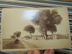 Antique 1890s Cabinet Card , River Road Albuquerque,nm New Mexico By Chas. Gould