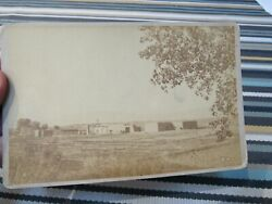 Antique 1890 Cabinet Card Photo Of Albuquerque,nm Us Military Fort New Mexico