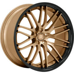 4ea 22 Staggered Lexani Wheels R-twenty Satin Bronze Center Rims S42