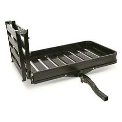 Guide Gear Folding Aluminum Cargo Carrier With 3-position Ramp Storage Shank New