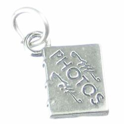 Photo Album Sterling Silver Charm .925 X 1 Memories Photos Albums Charms.