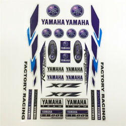 Motorcycle Reflective Emblem Decals For Fork Yamaha Motors Racing Body Stickers