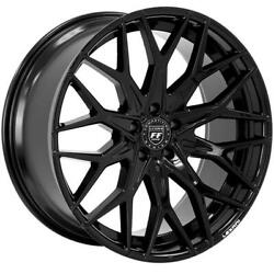 4ea 20 Staggered Lexani Wheels Morocco Full Gloss Black Flow Forged Rimss43