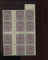 16t43s Western Union Telegraph Tete-beche Gutter Specimen Booklet Pane Of Stamps