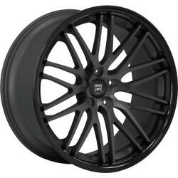 4ea 22 Lexani Wheels R-twenty Satin Black Center W Black Lip Rims S43