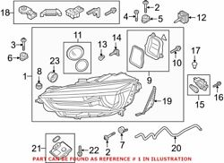 Genuine Oem Front Right Headlight Assembly For Audi 8w6941044e