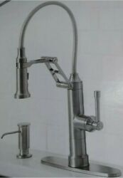 Giagni 19 Stainless Single-hole Pull-down Kitchen Faucet Pd240-ss