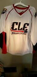 Cleveland Lake Erie Monsters Minor League Hockey Jersey Size 58 Adult