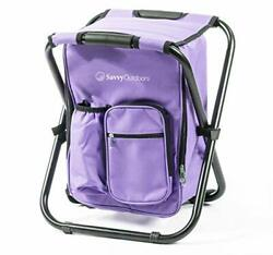 Ultralight Backpack Cooler Chair Compact Lightweight and Portable Folding Stoo $57.36