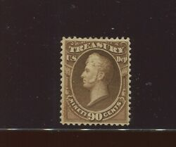O113 Treasury Dept Official Soft Paper Mint Stamp With Pf Cert Stock O113-pf1
