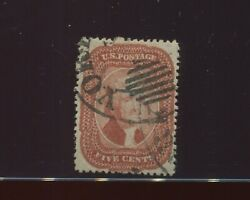 27 Jefferson Brick Red Type 1 Used Stamp With Ny Ocean Ccl And Pf Cert 27-pf1
