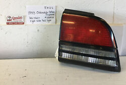 Used Vintage Oldsmobile Cutlass Supreme 1993andrsquo Right Side Tail Light Assembly