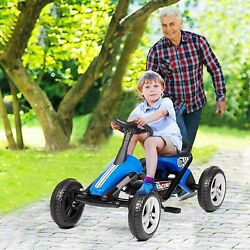 Lonabr Kids Pedal Powered Car Go Kart Ride On Toys 4 Wheel Outdoor Racer Driving