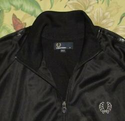 Mens FRED PERRY Black Warm Up Track Jacket XL $50.00