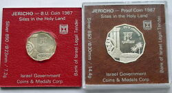 Israel 1987 Holy Land Jericho Mint Pack Set Of 2 Silver Coins