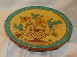 Vintage B And L Breininger Sgraffito 1982 Redware Plate By Gaudy Breininger10 1/4