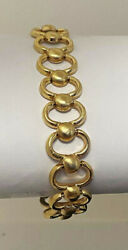 14k Yellow Gold Fancy Link Womenand039s Bracelet 7 Made In Italy