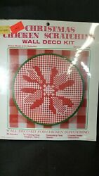 Wangs Poinsettia Chicken Scratch Scratching Christmas embroidery kit NEW
