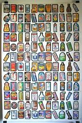 Topps Wacky Packages 1979 Mint Uncut Sheet 132 Stickers, Ships In Large Safe Box