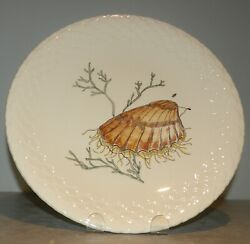 New Dinner Coquille Saint Jacques Hand Painted Grands Crustaces Pattern Gien
