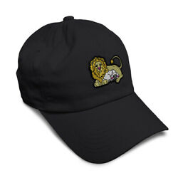 Soft Women Baseball Cap Faith Lion and Lamb Embroidery Animals Dad Hats for Men $14.99