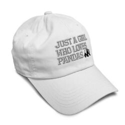 Soft Women Baseball Cap Selectively Shy Panda Embroidery Dad Hats for Men $14.99
