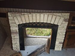 Rv Camper 5th Wheel Fire Place Rock Surround Fireplace Molding