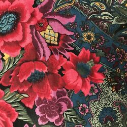 Floral Flower And Paisley Fabric Cotton Light To Medium Weight Print 6.5 Yards