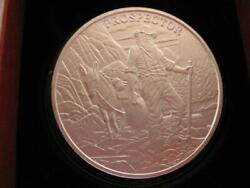 1-oz.999 Pure Silver Detailed Coin Prospector And Mule Bullion And Barter + Gold