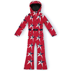 Perfect Moment Star Suit One Piece Kids Jacket Snowsuit - Red Print All Sizes