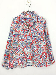 Old Clothes 70S Popular Budweiser Whole Pattern Pajamas Shirt L $276.97