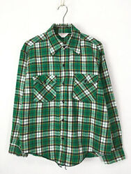 Old Clothes 70S Frostproof Green Check 100 Cotton Heavy Flannel Shirt Hevinell $139.43