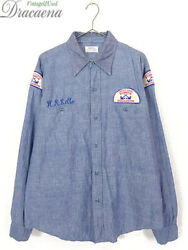 Old Clothes 70S Beltex Squadron Patch 100 Cotton Chambray Shirt 17 1 2 $139.43