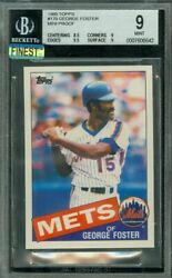 1985 Topps Mini 170 George Foster Bgs 9 Mac Finest Graded 100 Cards Made