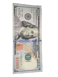 Rare 100 Hundred Dollar Bill With Star Note 2009 A